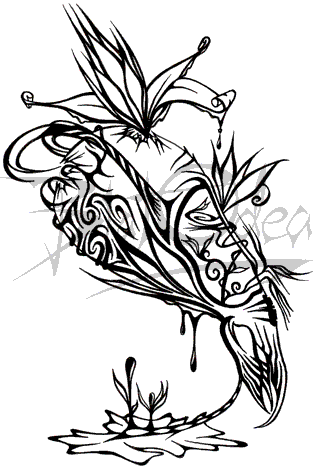 Celebrity Tattoos Design: Lily Allen Tattoos Dragon Lily